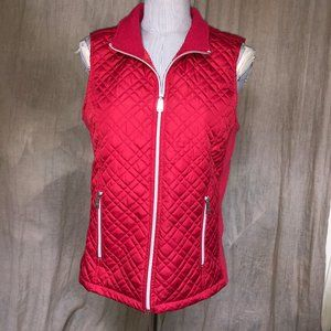 Black Rivet HOLIDAY AS NEW red quilted vest M